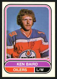 Ken Baird Autographed 1975-76 WHA O-Pee-Chee Rookie Card #37 Edmonton Oilers SKU #151400