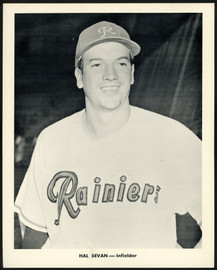 Hal Bevan 1956-59 Seattle Rainiers Popcorn 8x10 Premium Card SKU #151544