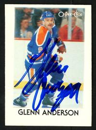 Glenn Anderson Autographed 1987-88 Mini O-Pee-Chee Card #1 Edmonton Oilers SKU #151762