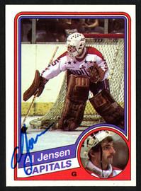 Al Jensen Autographed 1984-85 Topps Card #146 Washington Capitals SKU #151779