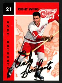 Andy Bathgate Autographed 1995-96 Parkhurst Card #44 Detroit Red Wings SKU #151883