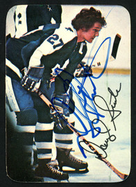 Darryl Sittler Autographed 1976-77 Topps Glossy Card #8 Toronto Maple Leafs SKU #151886