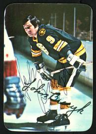 "John ""Johnny"" Bucyk Autographed 1976-77 Topps Glossy Card #14 Boston Bruins SKU #151894"