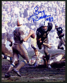 Ben Davidson Autographed 8x10 Photo Oakland Raiders Signed In Blue Stock #152425