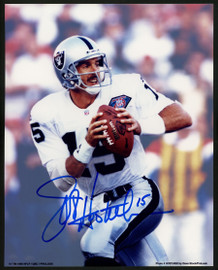Jeff Hostetler Autographed 8x10 Photo Oakland Raiders Stock #152906