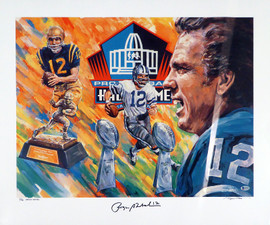 Roger Staubach Autographed 25x30 Lithograph Photo Dallas Cowboys Artist Proof #47/50 Beckett BAS #H74570