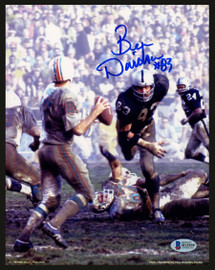 Ben Davidson Autographed 8x10 Photo Oakland Raiders Signed In Blue Beckett BAS Stock #153187