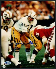 John Hadl Autographed 8x10 Photo San Diego Chargers Beckett BAS Stock #153200