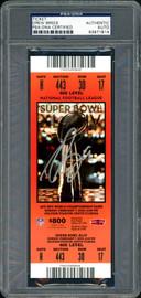Drew Brees Autographed Super Bowl XLIV Ticket New Orleans Saints PSA/DNA #83971814