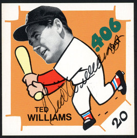 Ted Williams Autographed Trading Card Boston Red Sox JSA #Z57918