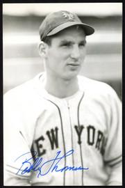Bobby Thomson Autographed 3.5x5.5 Photo New York Giants SKU #153970