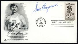 Sam Chapman Autographed First Day Cover Philadelphia A's SKU #154005