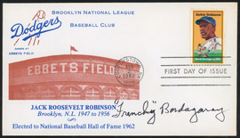 Frenchy Bordagaray Autographed First Day Cover Brooklyn Dodgers SKU #154012