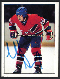 Mats Naslund Autographed 1983-84 Topps Sticker Card #71 Montreal Canadiens SKU #154089