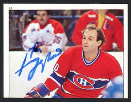 Guy Lafleur Autographed 1983-84 Topps Sticker Card #58 Montreal Canadiens SKU #154093