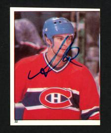 Steve Shutt Autographed 1982-83 Topps Sticker Card #32 Montreal Canadiens SKU #154118