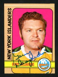 Gerry Desjardins Autographed 1972-73 Topps Card #38 New York Islanders SKU #154174