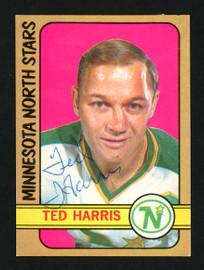Ted Harris Autographed 1972-73 O-Pee-Chee Card #118 Minnesota North Stars SKU #154186