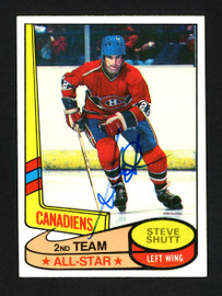 Steve Shutt Autographed 1980-81 Topps Card #89 Montreal Canadiens SKU #154257