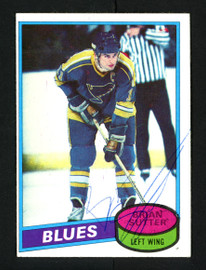 Brian Sutter Autographed 1980-81 Topps Card #244 St. Louis Blues SKU #154283