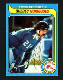 Serge Bernier Autographed 1979-80 Topps Card #47 Quebec Nordiques SKU #154299