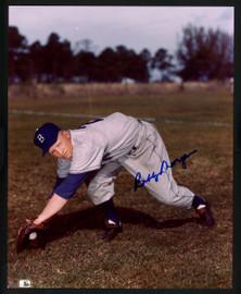 Bobby Morgan Autographed 8x10 Photo Brooklyn Dodgers SKU #154719