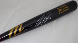 Gleyber Torres Autographed Black Marucci Game Model Baseball Bat New York Yankees Beckett BAS Stock #154967