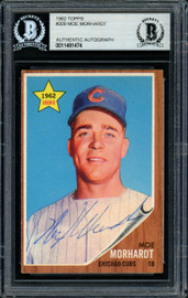 Moe Morhardt Autographed 1962 Topps Rookie Card #309 Chicago Cubs Beckett BAS #11481474