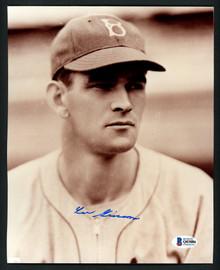 Lee Grissom Autographed 8x10 Photo Brooklyn Dodgers Beckett BAS #Q03086