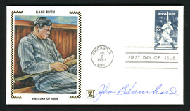"""John """"Johnny"""" Blanchard Autographed First Day Cover New York Yankees SKU #156399"""