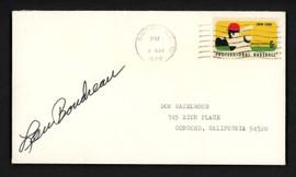 Lou Boudreau Autographed 3.5x6.5 Postal Cover Cleveland Indians SKU #156636