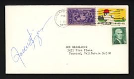 Rollie Fingers Autographed 3.5x6.5 Postal Cover Oakland A's SKU #156639