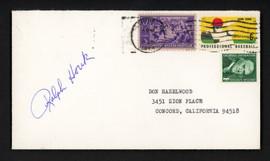 Ralph Houk Autographed 3.5x6.5 Postal Cover New York Yankees SKU #156642