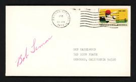 Bob Lemon Autographed 3.5x6.5 Postal Cover Cleveland Indians SKU #156647