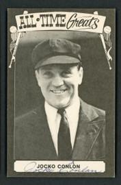 Jocko Conlan Autographed 1975 TCMA All Time Greats Postcard Umpire SKU #156664