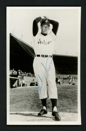 Herb Score Autographed Team Issued 3.5x5.5 Postcard Cleveland Indians (Creases) SKU #156678