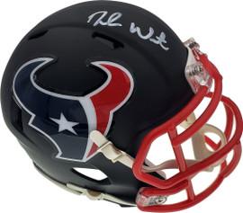 Deshaun Watson Autographed Houston Texans Matte Black Speed Mini Helmet Beckett BAS Stock #156854
