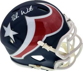 Deshaun Watson Autographed Houston Texans AMP Speed Mini Helmet Beckett BAS Stock #156855