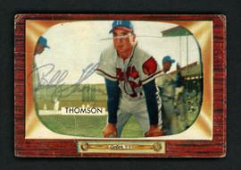 Bobby Thomson Autographed 1955 Bowman Card #102 Milwaukee Braves SKU #156976