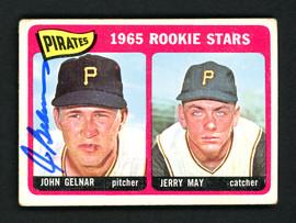 John Gelnar Autographed 1965 Topps Rookie Card #143 Pittsburgh Pirates SKU #157091
