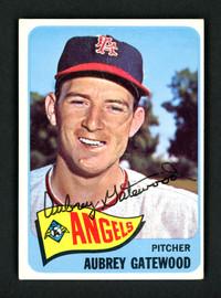 Aubrey Gatewood Autographed 1965 Topps Card #422 California Angels SKU #157129