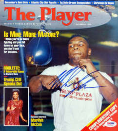 Mike Tyson Autographed The Player Magazine Cover Vintage PSA/DNA #T19789