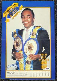 Sugar Ray Leonard Autographed Magazine Poster Photo PSA/DNA #T19792