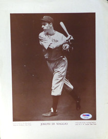 Joe DiMaggio Autographed 9.5x12 M114 Baseball Magazine Page Photo New York Yankees Vintage PSA/DNA #AC05106