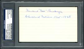 "Garland ""Gob"" Buckeye Autographed 3x5 Index Card Cleveland Indians ""Cleveland Indians 1925-1928"" PSA/DNA #83862098"