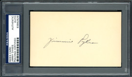 Jimmy Jimmie Dykes Autographed 3x5 Index Card Chicago White Sox, Philadelphia A's PSA/DNA #83862829