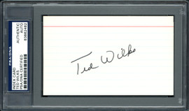 Ted Wilks Autographed 3x5 Index Card St. Louis Cardinals, Pittsburgh Pirates PSA/DNA #83862482