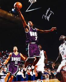Terrell Brandon Autographed 16x20 Photo Milwaukee Bucks PSA/DNA #T14685