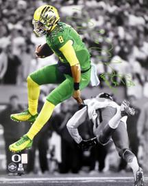 "Marcus Mariota Autographed 16x20 Photo Oregon Ducks ""Heisman 14"" MM Holo #18084"
