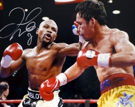 Floyd Mayweather Jr. Autographed 16x20 Photo Vs. Pacquiao Beckett BAS #I61256